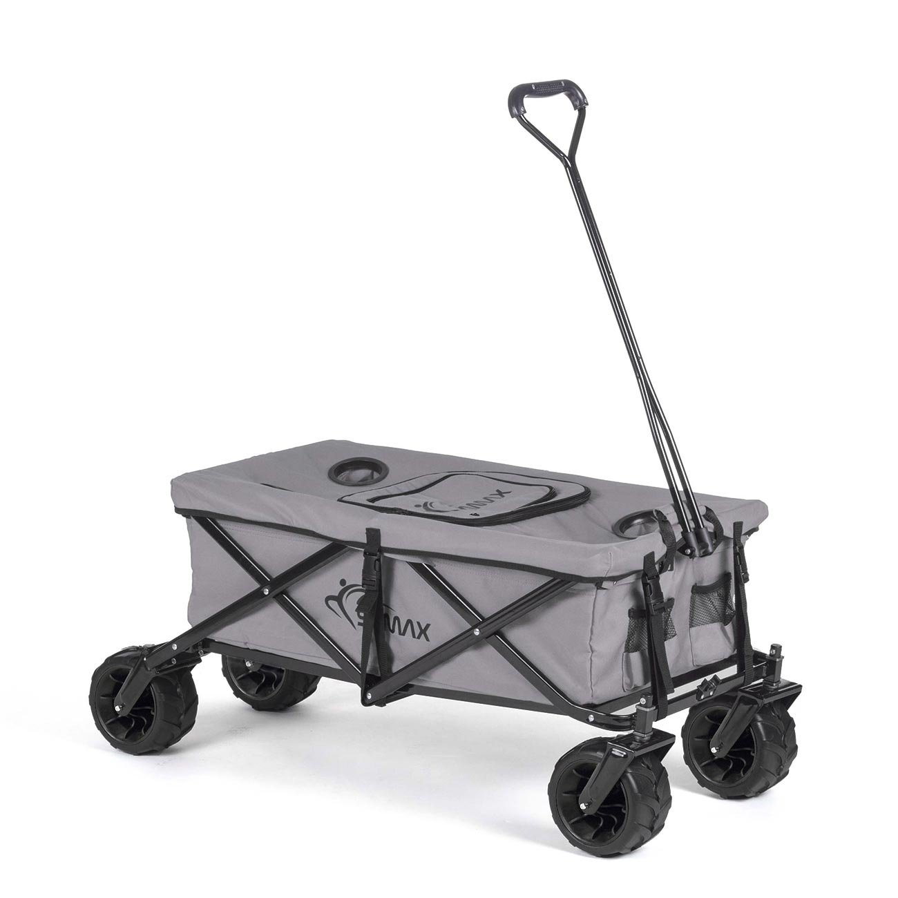 SAMAX Coaster Wagon Garden Trolley Beach Wagon Folding Foldable Hand Cart Trolley Grey - Various designs
