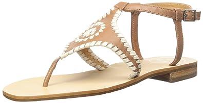 Jack Rogers Women's Maci Dress Sandal, Cognac/Bone, ...