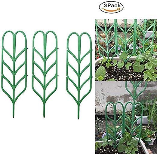 Jiamins Enrejado Plantas trepadoras plástico Marco de Soporte de Plantas pequeño Enrejado de Escalada Escalada en Enrejado Herramienta de jardín: Amazon.es: Jardín