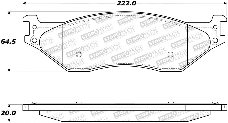 StopTech 308.10660 Street Brake Pads 4 Pack