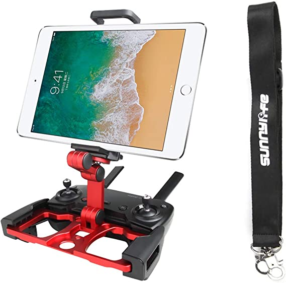 Red Anbee Foldable Aluminum Tablet Stand Cell Phone Holder with Lanyard Support Crystal Sky Monitor Compatible with DJI Mavic 2 Mavic Pro Platinum//Mavic Air//Spark Drone Remote Controller