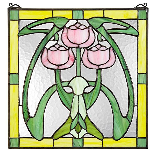 Glasgow Hanging - Stained Glass Panel - Glasgow Basket Stained Glass Window Hangings - Window Treatments