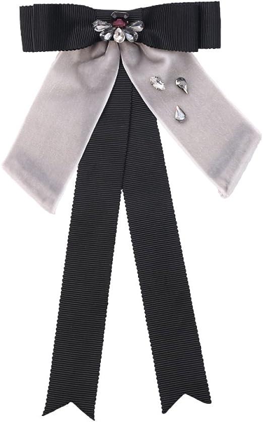 Mujeres Moda Corbata Mano Grandes Lazos Vestidos Pajaritas Negro ...