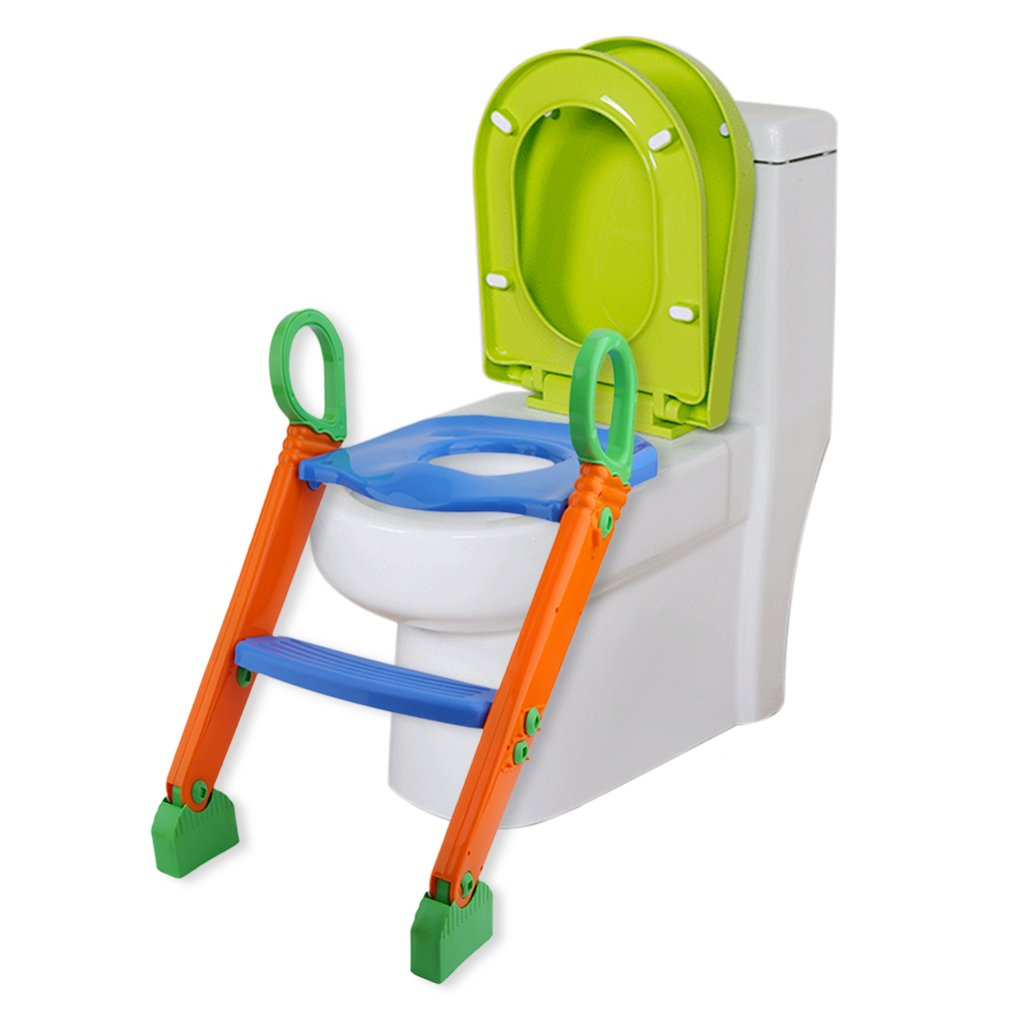 Belovedkai Kids Toddlers Toilet Potty Training Seat, Step-Stool Ladder for Kids and Baby