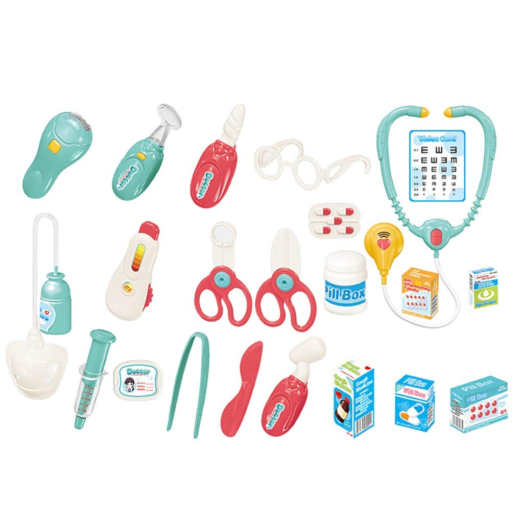 Children's Doctor Toy Set, 22 Pieces Pretend-Play Doctor Medical Kit ,Simulation Stethoscope Injection Set for Kids, School