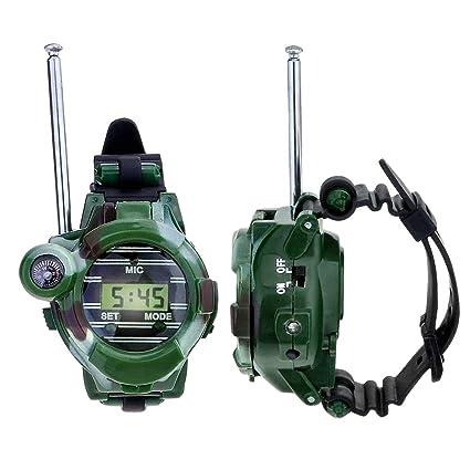 Toyvian 1 par de niños Walkie Talkie Reloj de Pulsera Digital para niños Reloj transmisor de