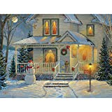 Bits and Pieces - 300 Piece Jigsaw Puzzle for Adults - It's a Wonderful Life I - 300 pc Snowman, Holiday, Christmas Jigsaw by Artist Samm Timm