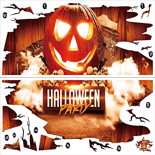 3D Wall Stickers Ground Sticker Scary Creepy Horror Halloween Wallpaper Decal Mural Art Poster Home Window -