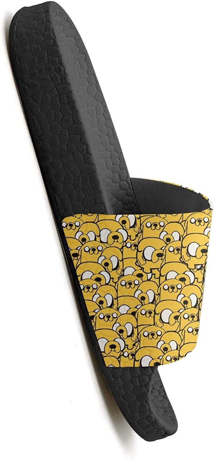 Mens Cute Dogs Yellow Sandals Slippers for Mens Sole Soft Foams Shoes
