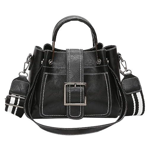 Amazon.com: Bolsas de hombro de piel para mujer con bolsa de ...