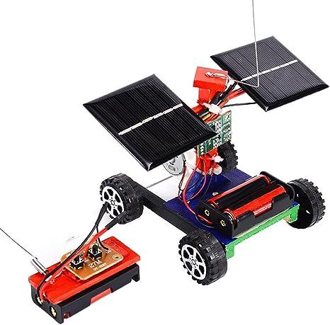 Domybest Fernbedienung Fahrzeug-Modell DIY Solar Auto Kinder Kinder Spielze