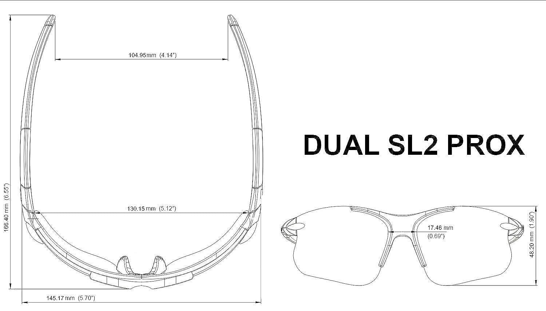 NEW REDESIGNED Dual SL2 ProX Sports Bifocal Reading Sunglasses