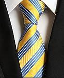 (メンデンス)MENDENG シルク ネクタイ フォーマル ストライプ ビジネス 就活 結婚式 8㎝ 17色 洗濯可
