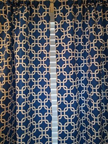 Gotcha Royal Blue Window curtain curtain - 2 panels/ Tiers - Window / Kitchen, Bath, Laundry, basement, office kids daycare schools, Kitchen cafe curtains 54