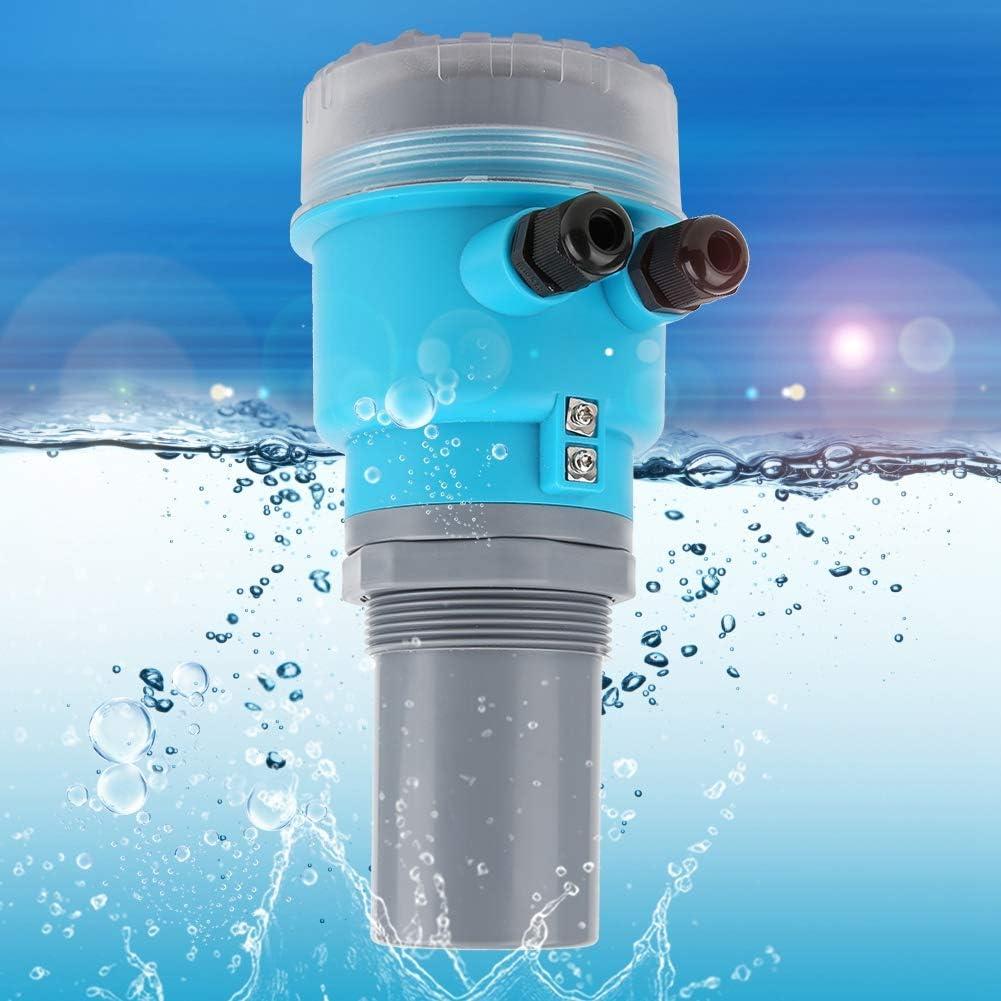Integrated DC24V Plastic Level Meter, Digital Ultrasonic Level Meter, LED Display Mortar Pool for Water Treatment(0-15 Meters) 0-20 Meters