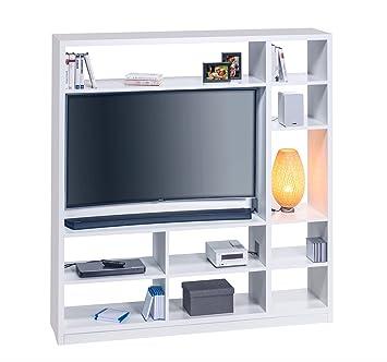 Lifestyle4living Raumteiler In Weiß Mit 10 Offenen Fächern Tv