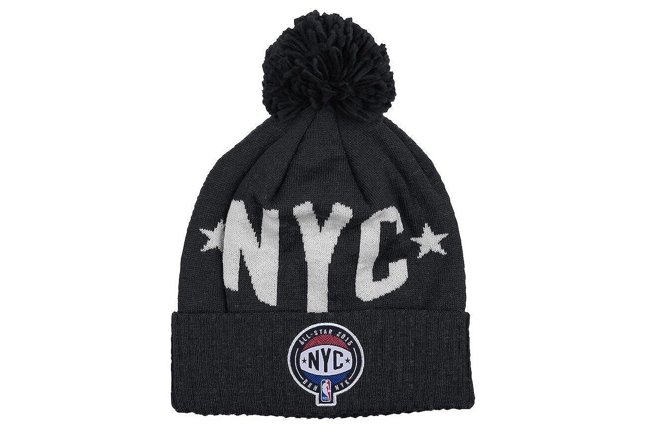 9f3383686 NBA Mitchel & Ness 2015 NYC All Star Logo Knit Hat with Pom