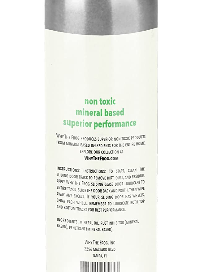 Why The Frog Sliding Door Lubricant Mineral Based Zero Voc