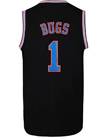 JOLI SPORT Bugs 1 Space Men s Movie Jersey Men s Basketball Jersey S-XXXL  White  0c893171f