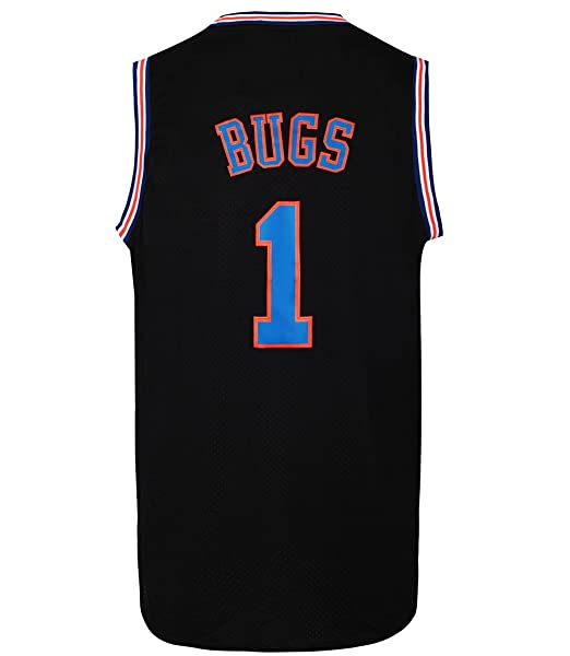 ef8ecdc0a57 JOLI SPORT Bugs 1 Space Men's Movie Jersey Basketball Jersey S-XXXL Black  (Small