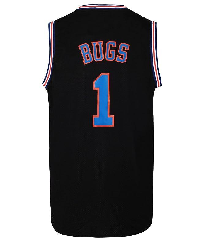 JOLI SPORT Bugs 1 Space Men's Movie Jersey Men's Basketball Jersey S-XXXL White/Black S-XXXL