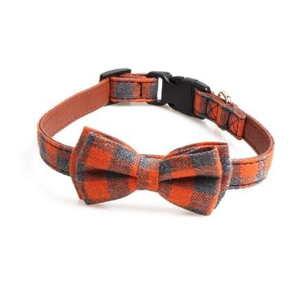 Gulunmun Collares Básicos Arnés para Mascotas Tela Escocesa ...