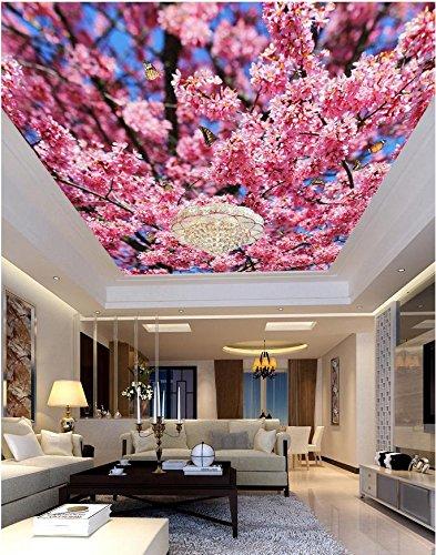 400cmX280cm Custom photo wallpaper Large 3D Stereo romantic ceilings Peach beautiful ceiling frescoes 3d wallpapers nature,F