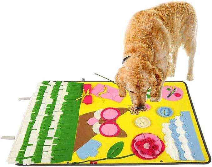 iFCOW Tappetino per Cani per Animali Domestici Tappetino Ad Alimentazione Lenta Lavabile Foraggio Addestramento Puzzle per Cuccioli di Cani Incoraggia Le capacit/à di Foraggiamento Naturale