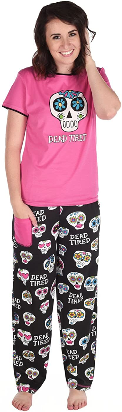 Lazy One Womens Dead Tired PJ T Shirt