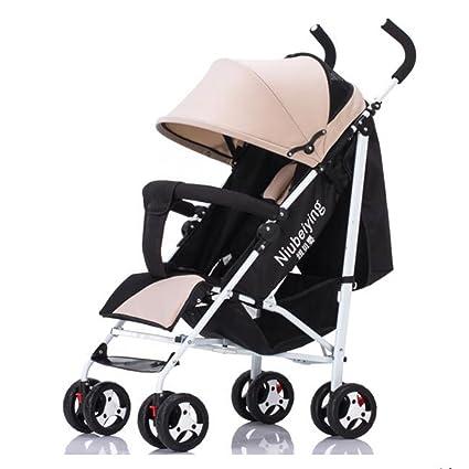 YXINY Carritos y sillas de paseo El Carrito Para Bebés Se Puede Sentar Reclinable Plegable Liviano