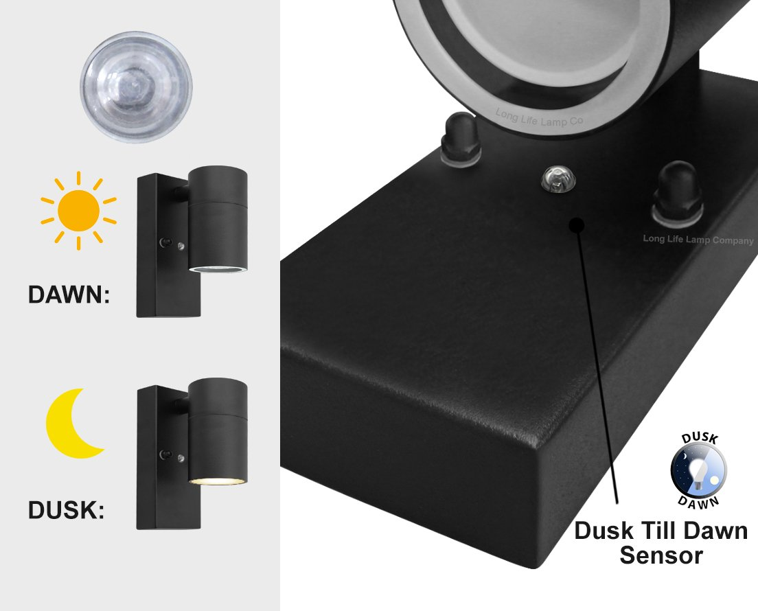 LED Bulkhead Security White Outdoor 7 Watt Wall Light IP44 Integrated LEDs NO Lamp Replacements