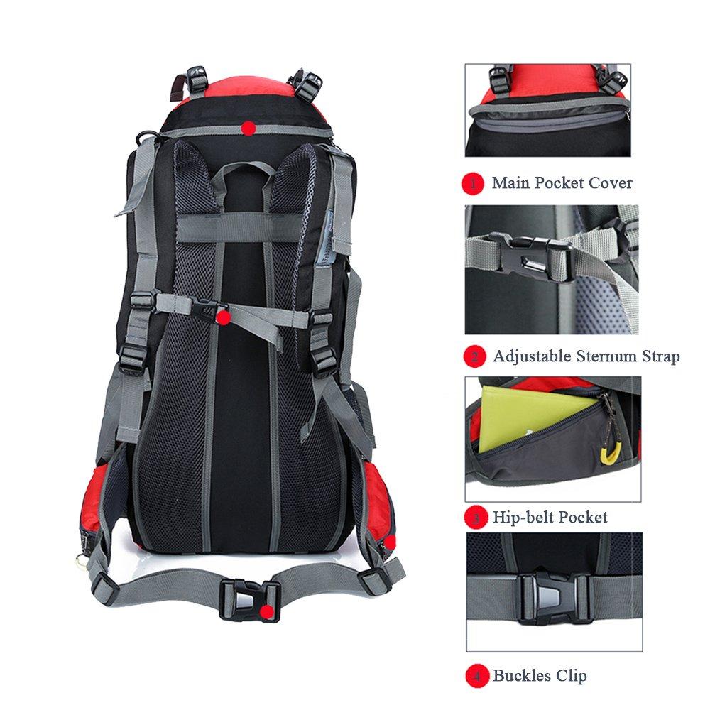 f6dd3f2d2d6c 70l+5l waterproof climbing hiking backpack rain cover bag 70l ...