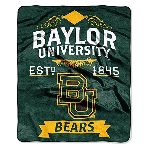 Officially Licensed NCAA Baylor Bears Label Plush Raschel Th