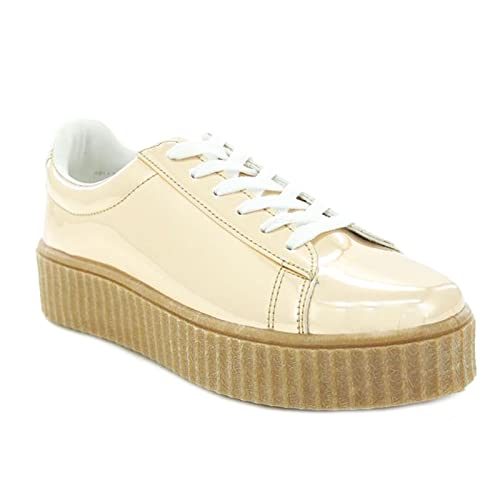 Scarpe donna sneakers ginniche lucide specchio casual nuove Queen Helena X17-27 aRs6CJim4