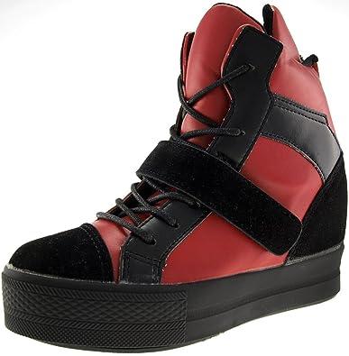 751fe542dbdfe8 Maxstar C2 Klettverschluss-Bänder bis hoch High Top Sneakers  Amazon ...