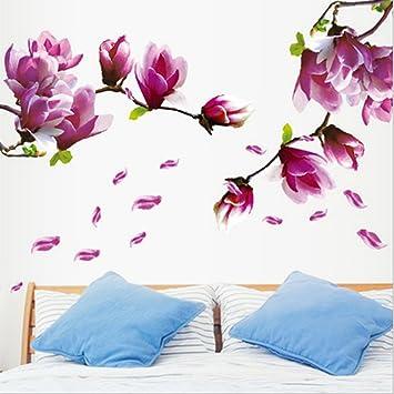 KiKa Monkey Kunst bunte Blume Wandtattoo Schlafzimmer Dekoration ...