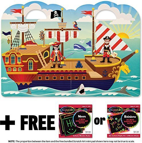 - Pirate: Puffy Sticker Play Set + FREE Melissa & Doug Scratch Art Mini-Pad Bundle [91022]
