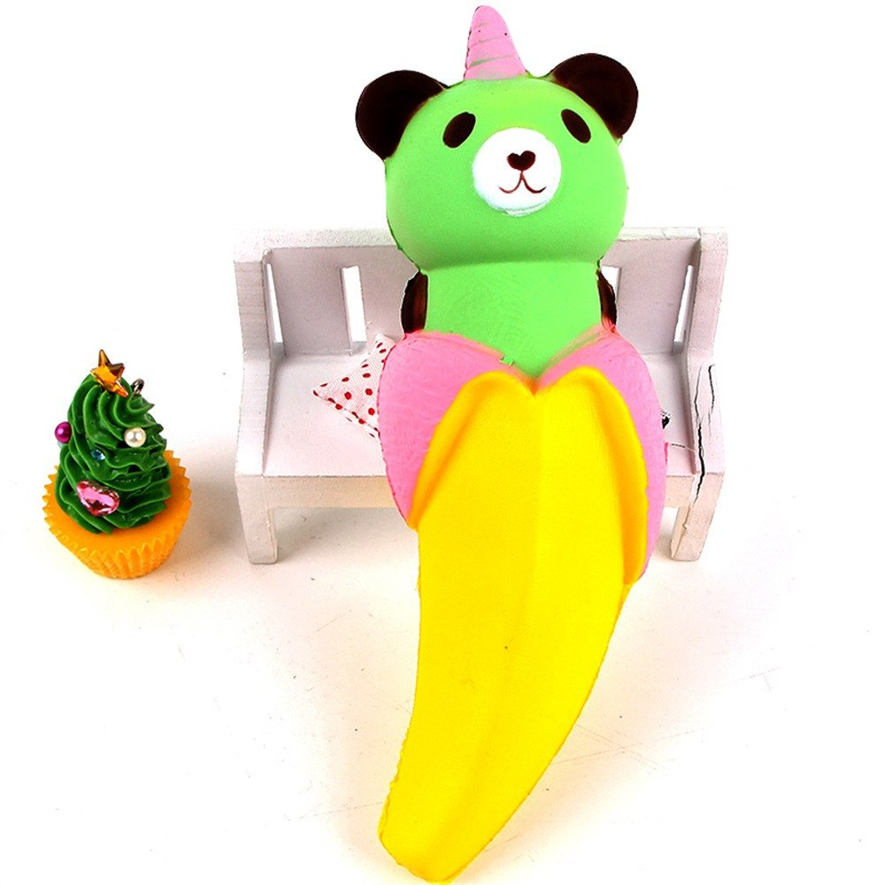 CSSD Scented Cream Cartoon Banana Bear Slow Rising Squeeze Decompression Toys (Yellow)