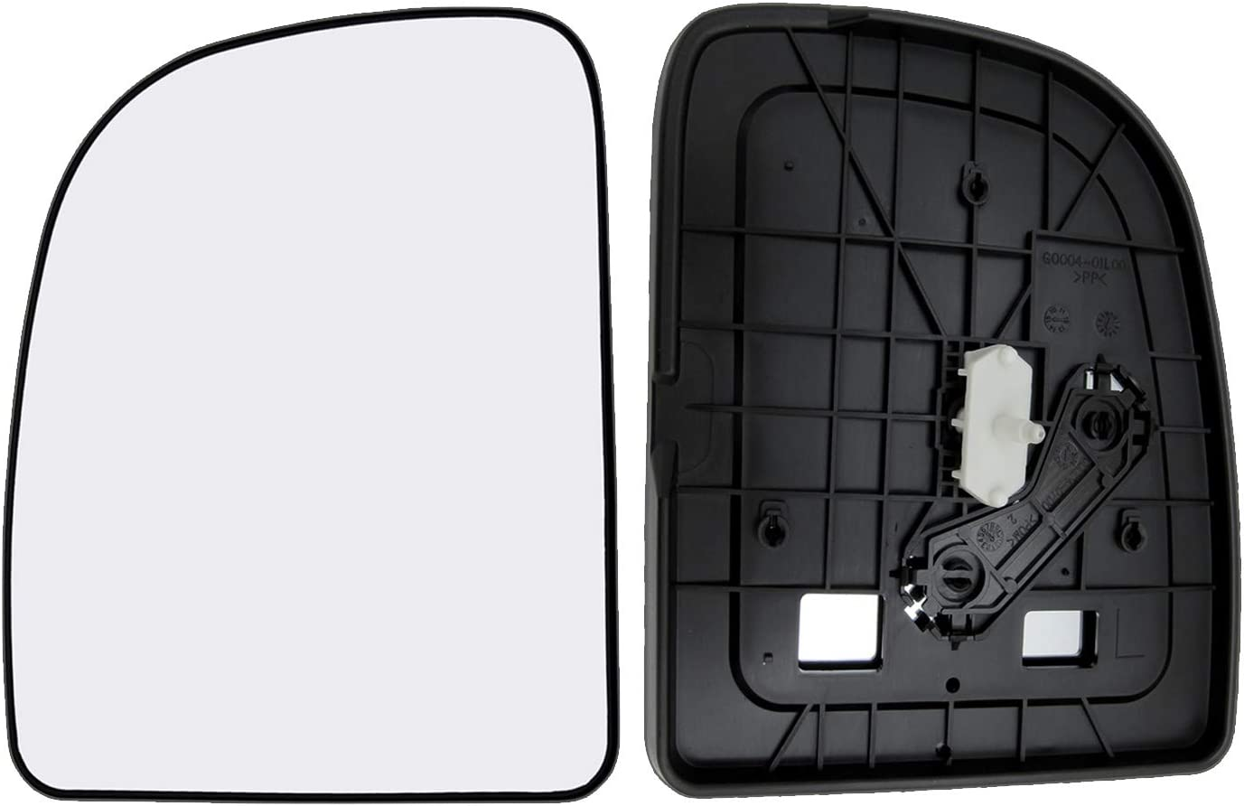 New Replacement Driver Side Mirror Glass W Backing Compatible With Ford E-150 E-250 E-350 Club Wagon Econoline Excursion F-250 Super Duty Sold By Rugged TUFF