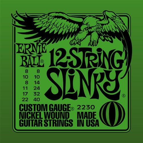 (Ernie Ball 12-string Slinky Nickel Wound Set, .008 - .040)