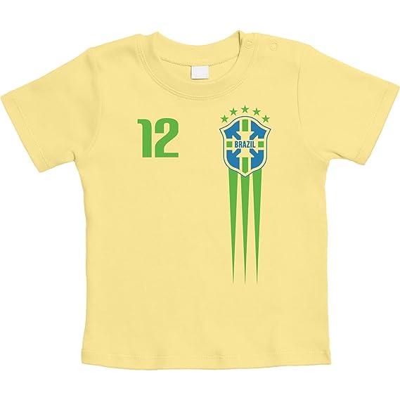 Shirtgeil Maglia Mondo X Coppa Maglietta Brasile Fans Del Bimbi T1lFKJc3