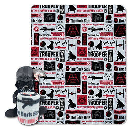 Lucas Films Star Wars Galactic Vader Plush Character Pillow and Fleece Throw Blanket Set, 11