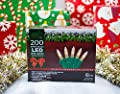 Stay Off the Roof Super Bright LED Christmas Lights Set - Warm White - 200-Piece - 54 ft Lighted Length, Connect up to 15 Sets - Holiday Mini Pack