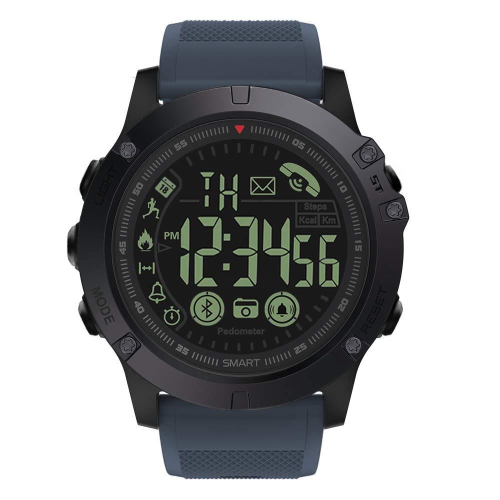 Reloj Deportivo Digital para Hombre, Resistente al Agua, con podómetro, Contador de calorías, Bluetooth, Reloj Inteligente