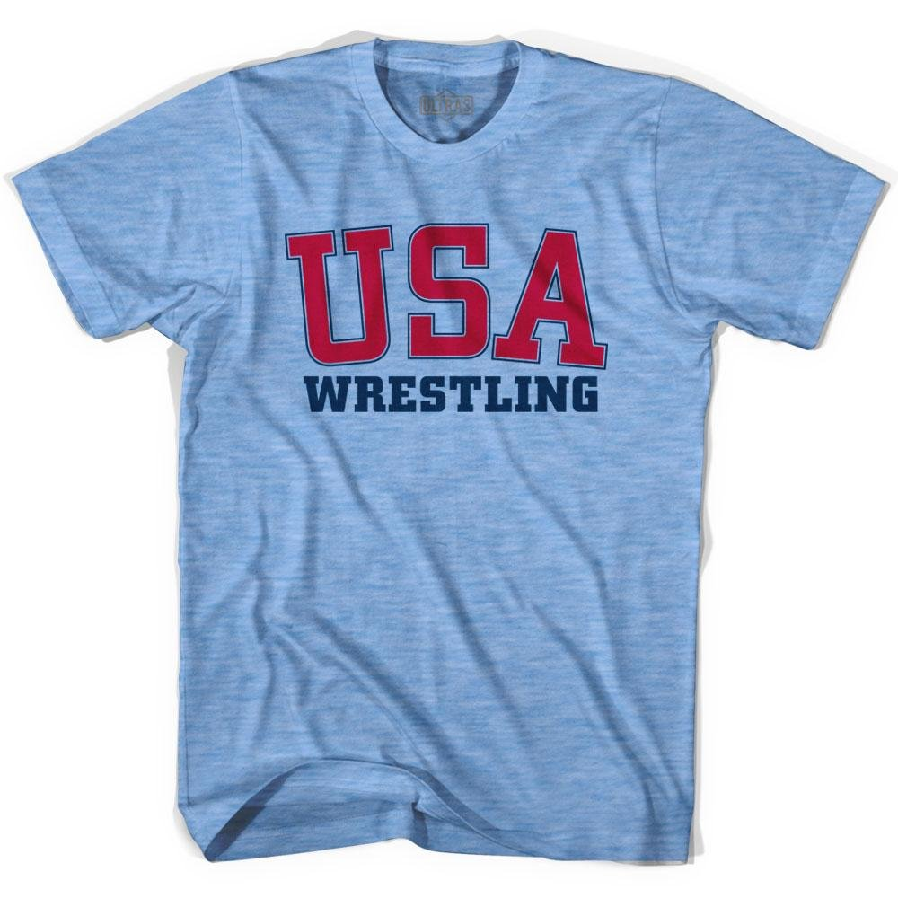 USA Wrestling Ultras Soccer T-shirt, Athletic Blue, Adult Large by Ultras