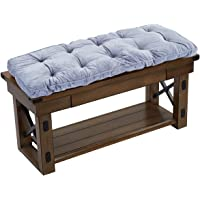 Big Hippo Indoor/Outdoor Patio Bench Cushion, Soft Thicken Seat Pads Cushion with Ties - 47.24x17.71x1.96 Inches, Gray