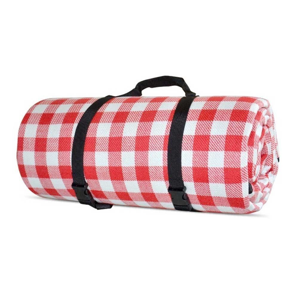 Oops Style 79 x 79''Red Picnic Blanket Waterproof Extra Large Machine Washable Outdoor Rug