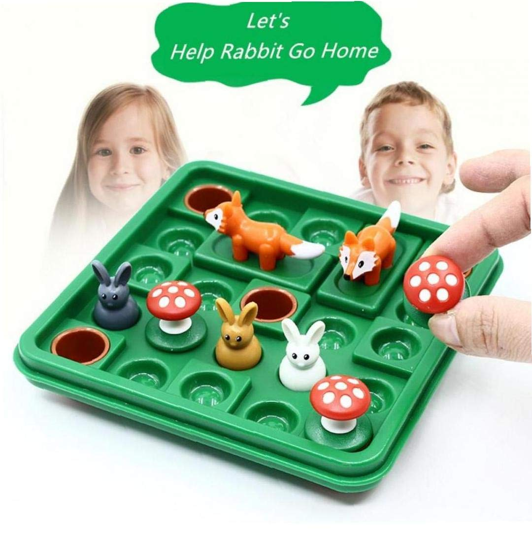 Help Rabbit and Go Home Early Educational Toys Montessori Logic Space Thinking Reasoning Family Party Playing Game Toy