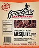 Gluten-Free Low Carb Beef Jerky Snacks: 3 Pack of Cajun Style Mesquite Meat Strips for Paleo & Keto Diets – Grandpa's Beef Jerky