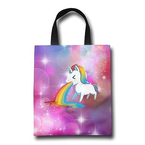 Unicorn vomitar arco iris Luz reutilizable bolsa de la ...